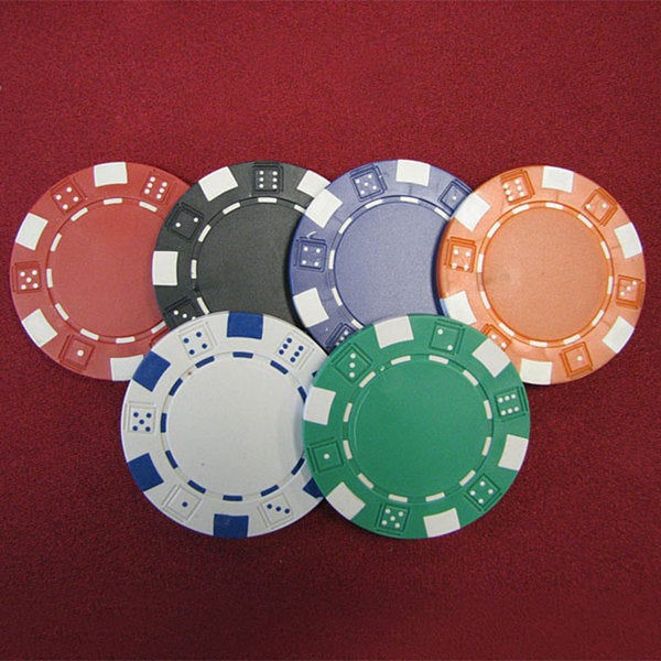 Shop 1000 Dice Striped Clay Composite Poker Chips - Free