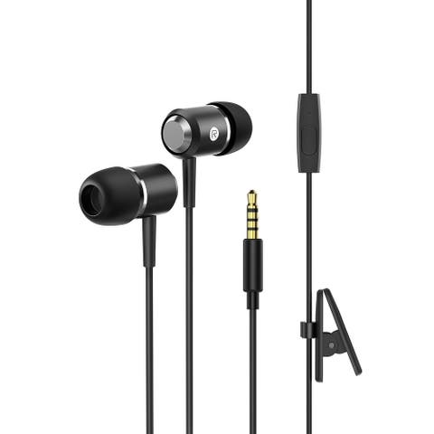 Mpow Wired Headphones In-Ear Earbuds Stereo Earphones with Mic Phone Control High Definition Fits All 3.5mm Devices