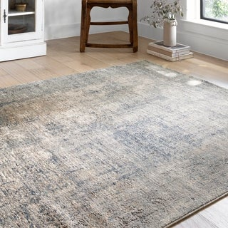 Alexander Home Josefina Distressed Abstract Contemporary Rug