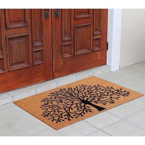 A1hc Floral Outdoor Door Mat Scraper For Front Door Entrance 30 X48 Patio Rug Dirt Trapper Fade Resistant Flocking Technology Overstock 30081022