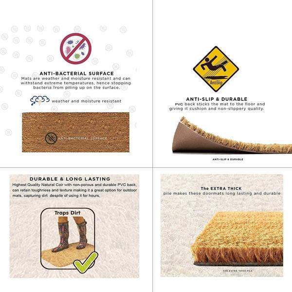 PVC Door Mats /& Boot Scrapers High Quality Natural Coir