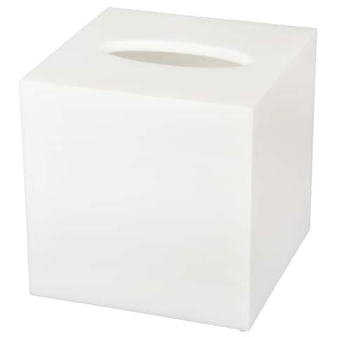 Creative Home High Quality White Acrylic Tissue Box Holder, Cover