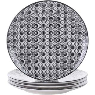 Porcelain Dessert Plates, 4-Piece Porcelain Round Dessert Dishes