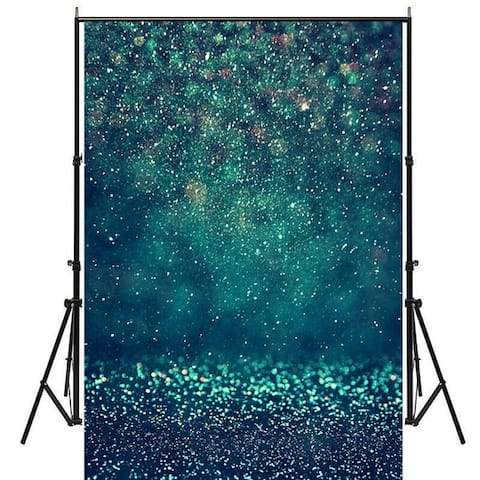 Photography Backdrop Studio Photo Prop 5'x7' Dark Green Glitter Rain