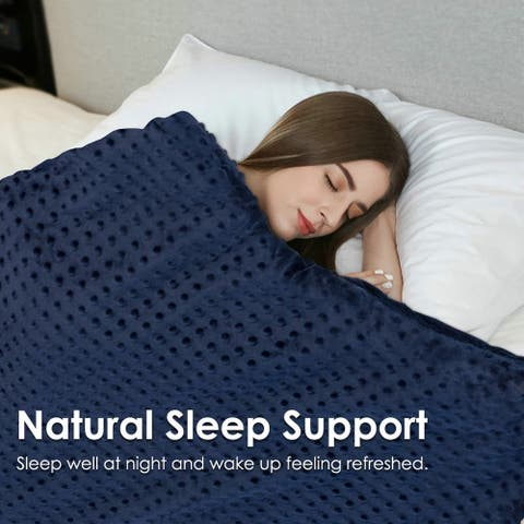 Weighted Blanket Sleeping Helper with Glass Bead and Crystal Cover