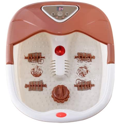 Foot Spa Massager Tub Temperature Control Heat Infrared Bubbles LCD