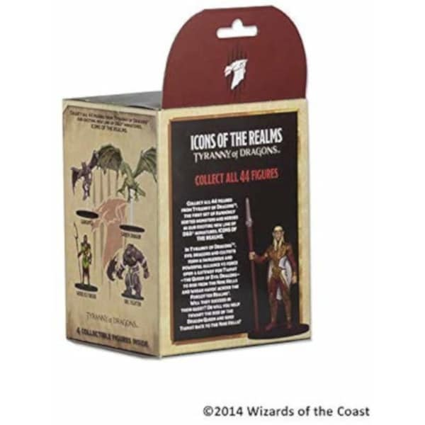 Brick - 8 Packs Icons of the Realms: Tyranny of Dragons Booster Pack Miniatures Figures Dungeons /& Dragons D/&D