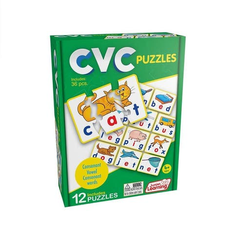 Junior Learning CVC Word Builder Learning Educational Puzzles