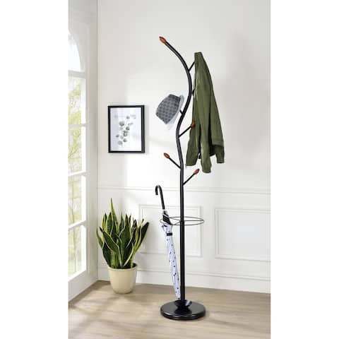 Copper Grove Canaan 76-inch Black Tree Coat Rack with Umbrella Stand