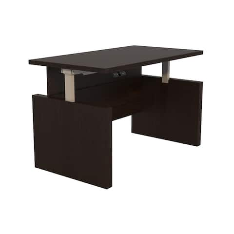 Safco Products Aberdeen® Height-Adjustable Desk, Straight Front Top & Base