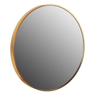 "Cortesi Home Opra Mirror, Round 24"" with Metal Frame"