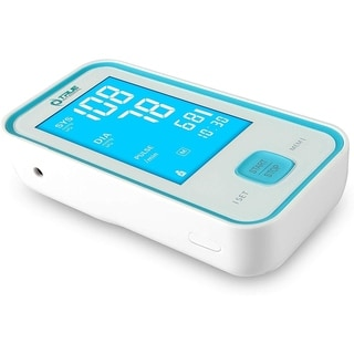 True Integral Arm Blood Pressure Monitor with Large Display, Voice Notification, Upper Arm Cuf, Heart Rate Pulse - FDA Approved