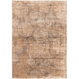 Hand-knotted Galleria Tan  Rug - ECARPETGALLERY - 4'9 x 6'9