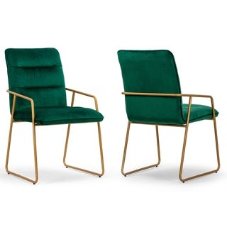 Link to Set of 2 Ardal Green Velvet Arm Chair with Golden Metal Legs Similar Items in Kids' & Toddler Furniture