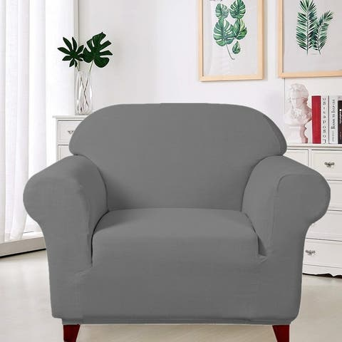 Enova Home Ultra Soft Stretch Fabric Armchair Slipcovers Removable Anti-Dirty Fitted Furniture Protector