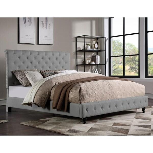 Shop Best Master Furniture Tower Upholstered Platform Bed