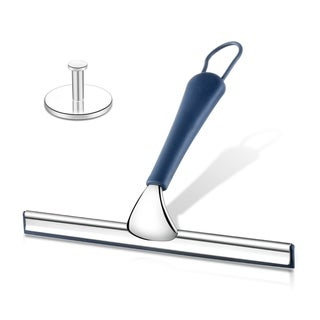 ToiletTree Products All Purpose Stainless Steel Squeegee - Rust Proof Deluxe Squeegee with Hanging Hook (Silicone)