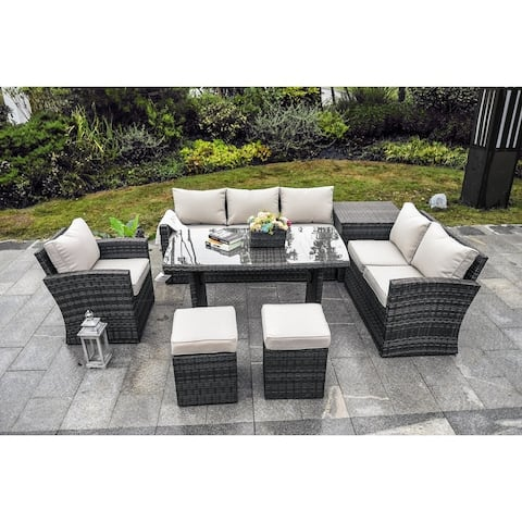 Moda 7-pieces Patio Furniture Outdoor Sectional Sofa Sets