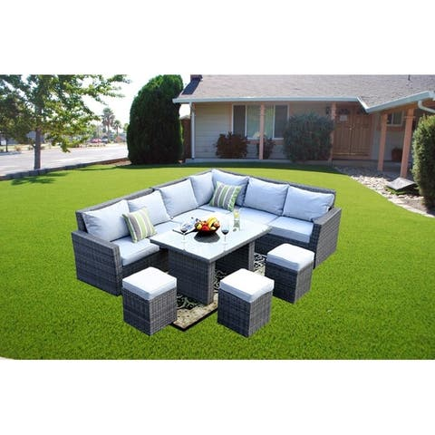 Moda 8-Piece Patio Wicker Sofa Set Outdoor Sectional Furniture