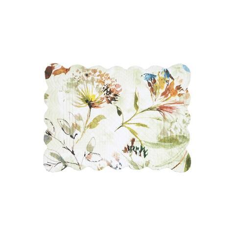 Watercolor Floral Reversible Placemat Set of 6