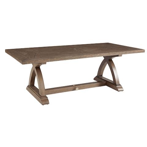 A.R.T. Furniture Summer Creek Outdoor Rectangular Dining Table - w-84.25 x d-42 x h-31.91