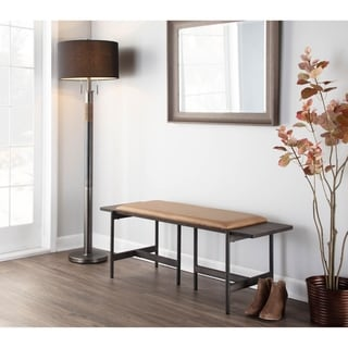 Link to Chloe Contemporary Bench with Upholstered Seat & Wood Accent - N/A Similar Items in Living Room Furniture