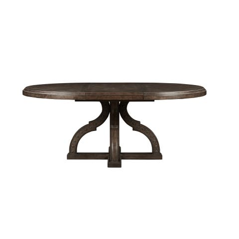 A.R.T. Furniture Vintage Salvage Aiden Round Dining Table - w-76.02 x d-54.01 x h-30.01
