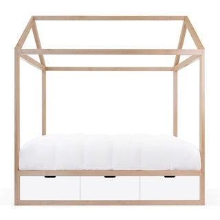 Taylor & Olive Marigold Solid Maple Canopy Storage Bed