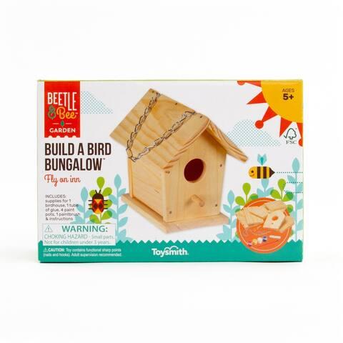 Toysmith Build A Bird Bungalow (House) Craft Kit