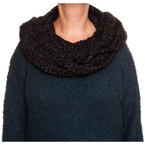 Rampage Lurex Rib Knit Infinity Pashmina Fashion Scarf