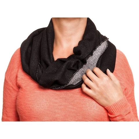 Rampage French Terry Infinity Loop Heavy Fashion Scarf Pashmina Black