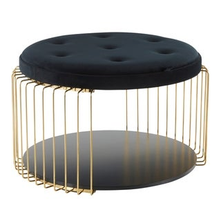 Canary Glam Upholstered Tray Top Coffee Table