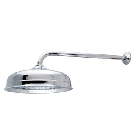 Raindrop Chrome Showerhead with Arm