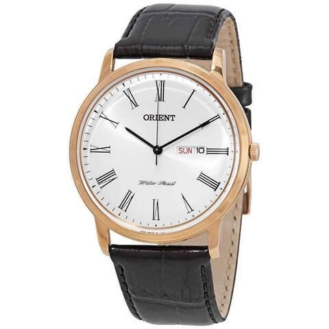 Orient Men's FUG1R006W6 Capital Version 2 Black Leather Watch