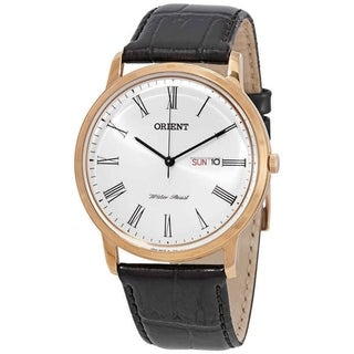 Link to Orient Men's FUG1R006W6 Capital Version 2 Black Leather Watch Similar Items in Men's Watches