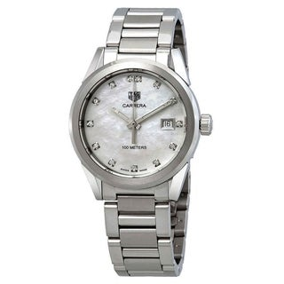 Link to Tag Heuer Women's WBG1315.BA0758 Carrera Diamond Stainless Steel Watch Similar Items in Women's Watches