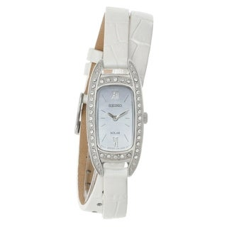 Link to Seiko Women's SUP391 Solar White Leather Watch Similar Items in Women's Watches