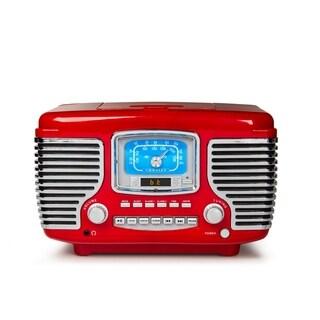 Corsair Alarm Clock Radio in Red