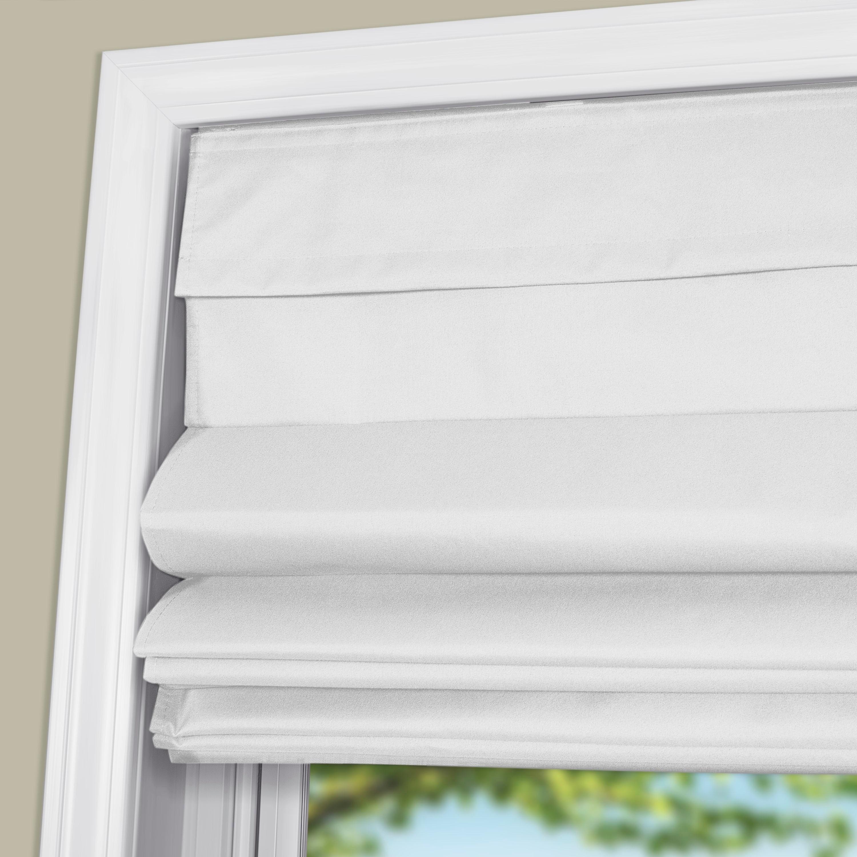 Arlo Blinds White Room Darkening Cordless Lift Fabric Roman Shades On Sale Overstock 30085590