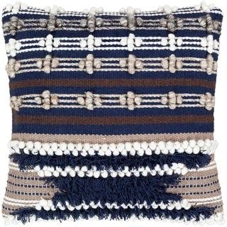 Gurley Hand Woven Geometric 22-inch Poly or Feather Down Throw Pillow