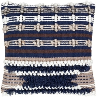Gurley Hand Woven Geometric 18-inch Poly or Feather Down Throw Pillow