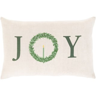 "Link to Natale ""Joy"" Wreath 13x20-inch Throw Pillow Cover Similar Items in Christmas Decorations"