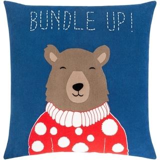 Brooklyn Holiday Bear Throw Pillow Cover