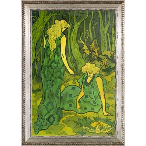 "La Pastiche by overstockArt Femmes dans la foret by Paul-Elie Ranson with Versailles Antiqued King Frame, 42"" x 30"""