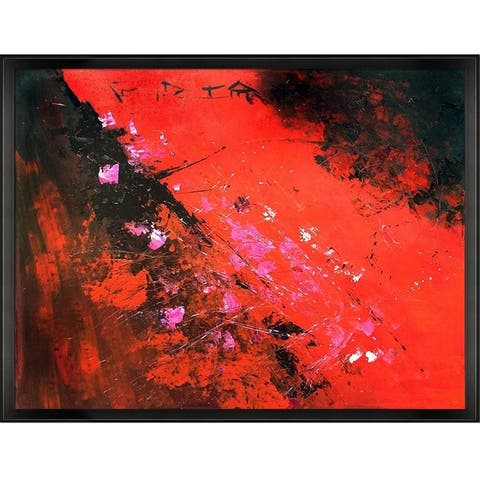 """ArtistBe by overstockArt Abstract 884512 Reproduction by Pol Ledent with Studio Angled Frame, 42.5"""" x 32.5"""""""