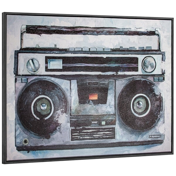 """Vintage Boombox Canvas Art Print with Floating Frame (41"""" x 25"""")"""