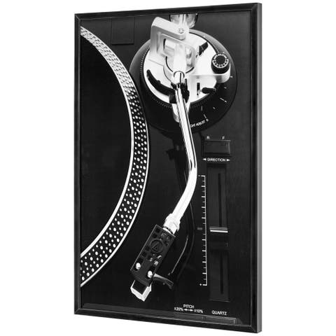 """Vintage Turntable Record Player Framed Photo Art Print (37"""" x 25"""")"""