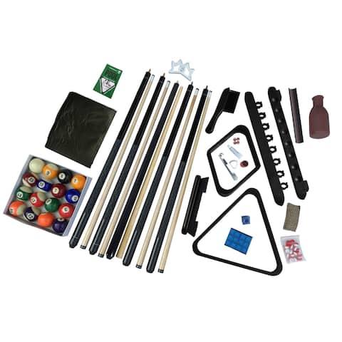 Hathaway Deluxe Billiards Accessory Kit - Black Finish