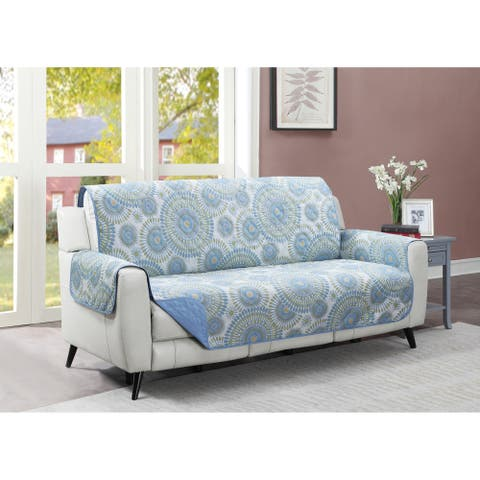 Harper Lane Blue Starburst Reversible Sofa Furniture Protector