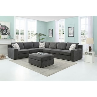 Modular Sectional Sofa with Ottoman
